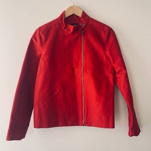 Kate Spade Saturday red cotton motto jacket